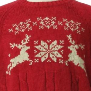 lands end crew christmas snowflake ugly sweater